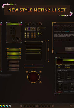 Metin2 Brown Game PSD UI Design