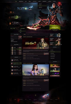 Metin2 Dark Game Website Template