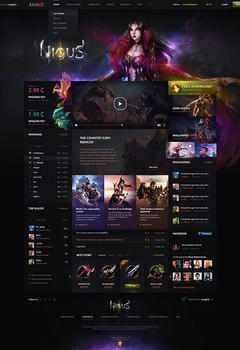 Metin2 NiouS Game Website Template