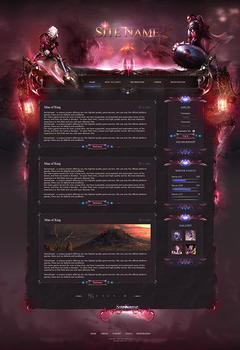 Almost free! Nightwish Game Website PSD + HTML Template
